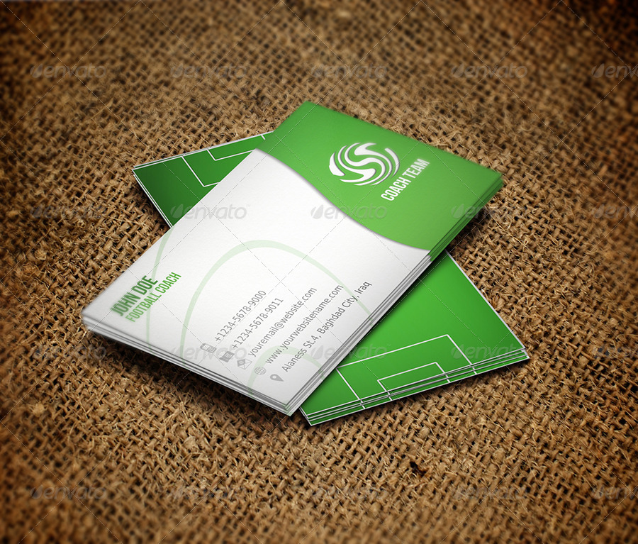 Magnificent Football Business Cards Photos - Business Card Ideas ...