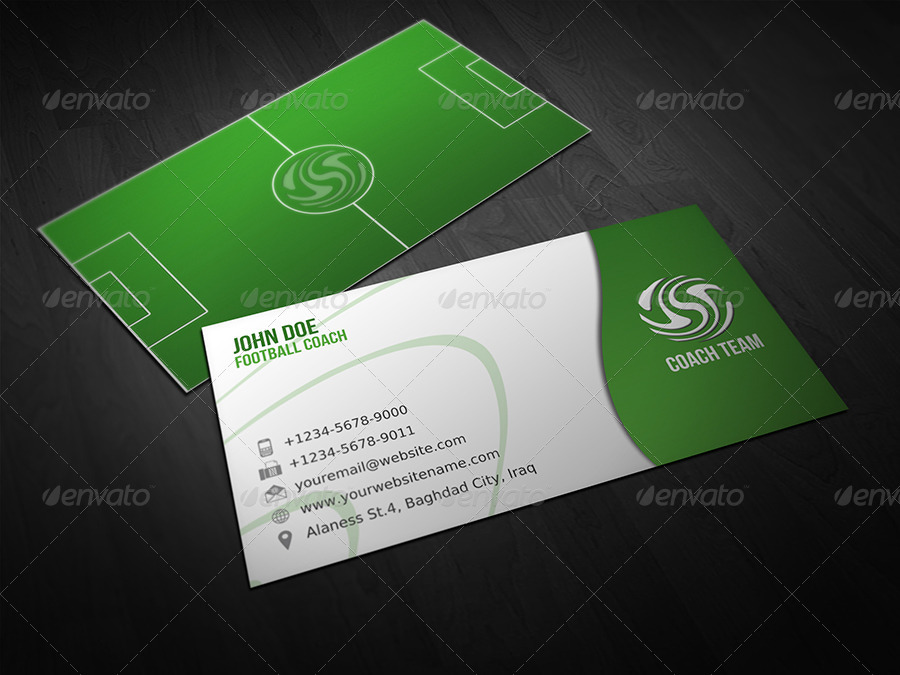 Football Coach Business Card By Owpictures Graphicriver