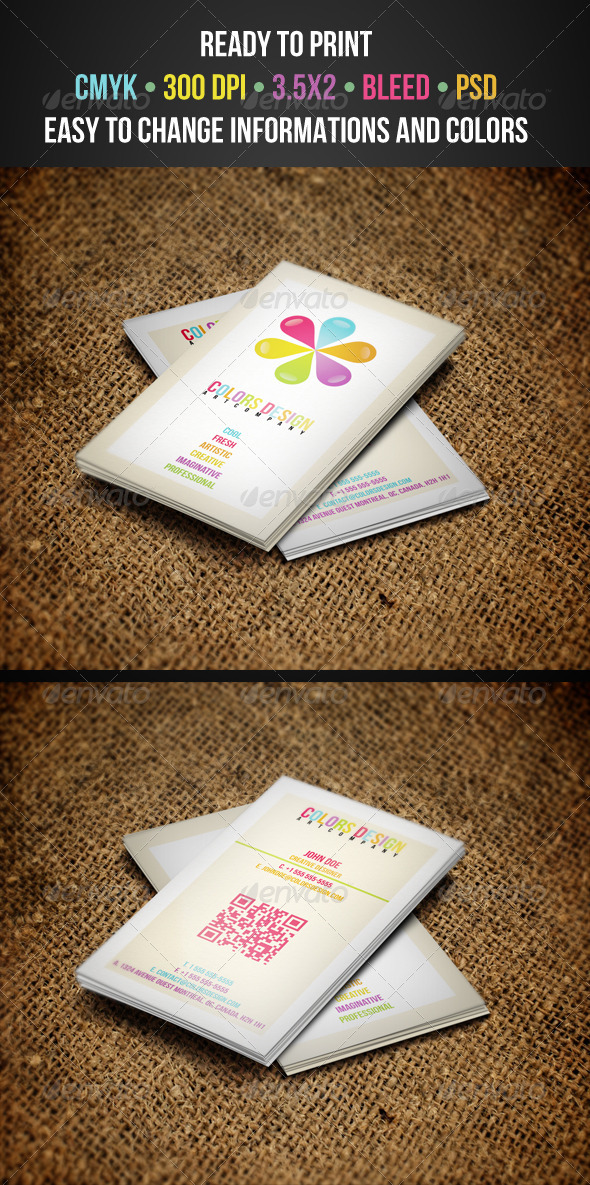 Colorful Business Cards - Corporate Business Cards