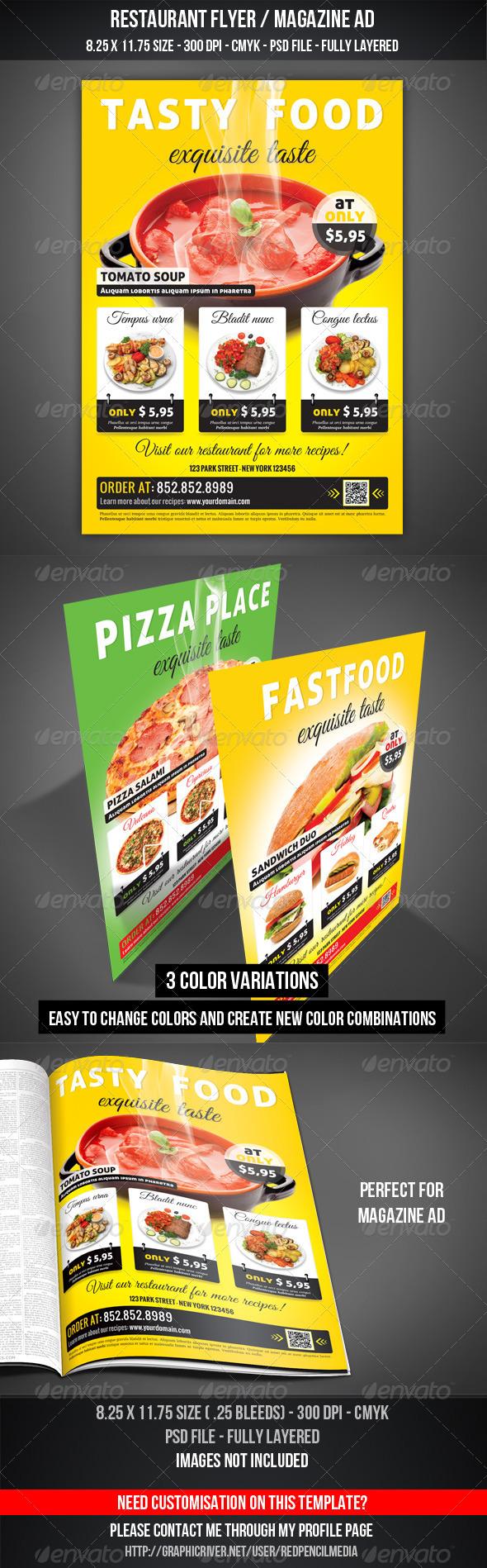 Restaurant Flyer / Magazine AD - Restaurant Flyers