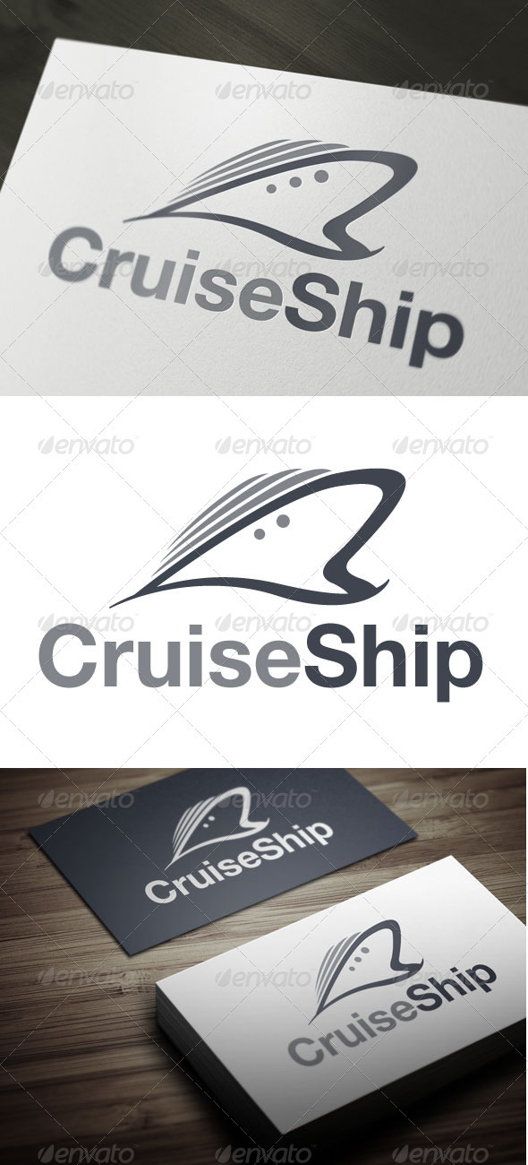 Cruise Ship - Objects Logo Templates