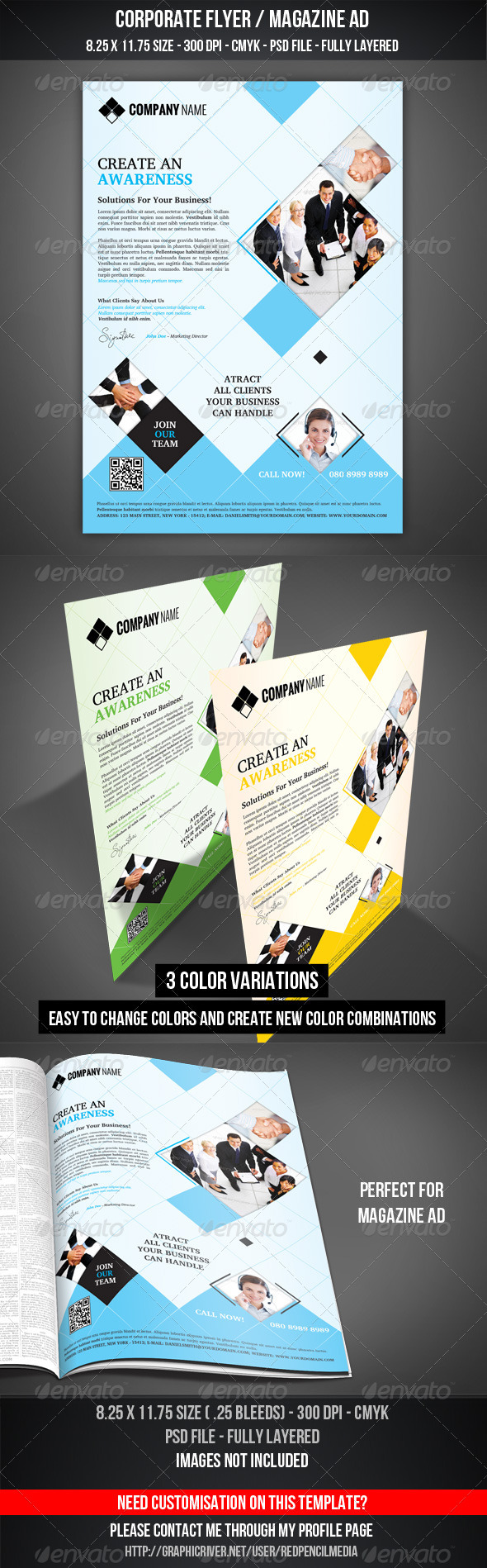Corporate Flyer / Magazine AD - Corporate Flyers