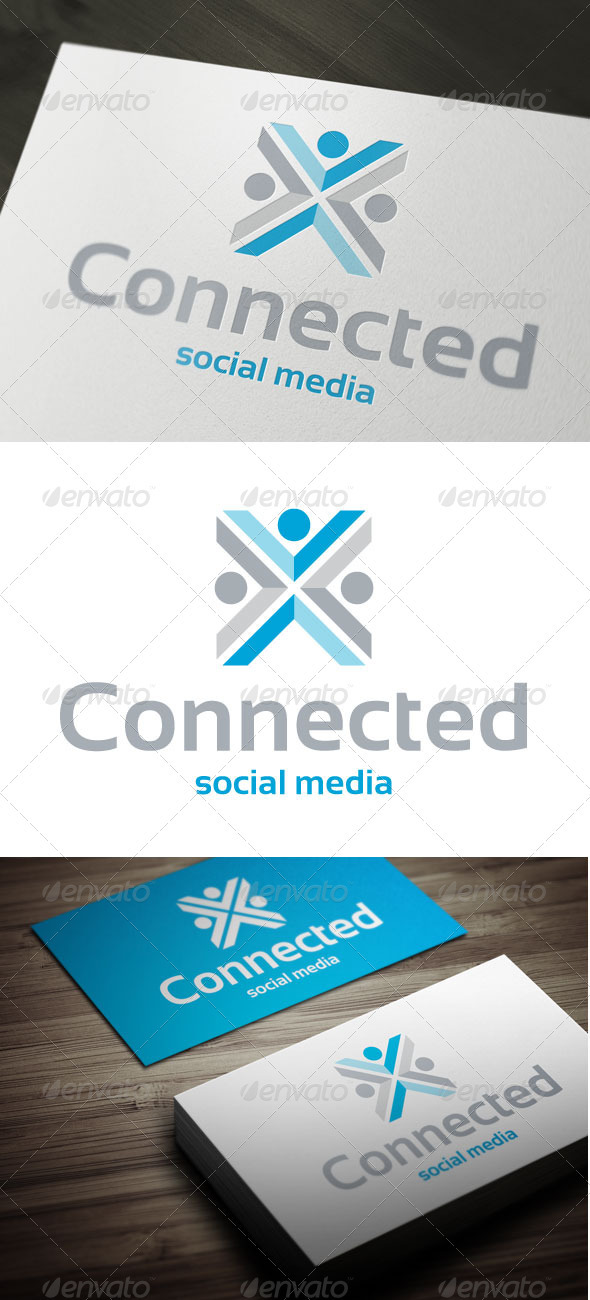 Connected - Humans Logo Templates