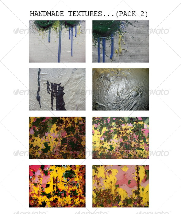 Handmade grunge art textures (PACK 2) - Miscellaneous Textures