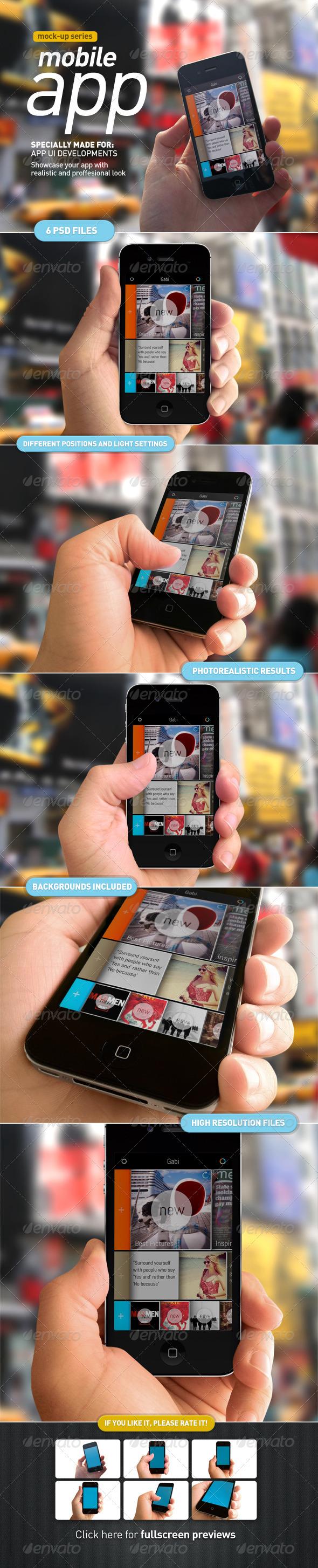 Device Holding   Mobile App UI Mock Up - Mobile Displays