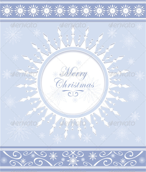 Winter Background or Snowflakes Frame - Backgrounds Decorative