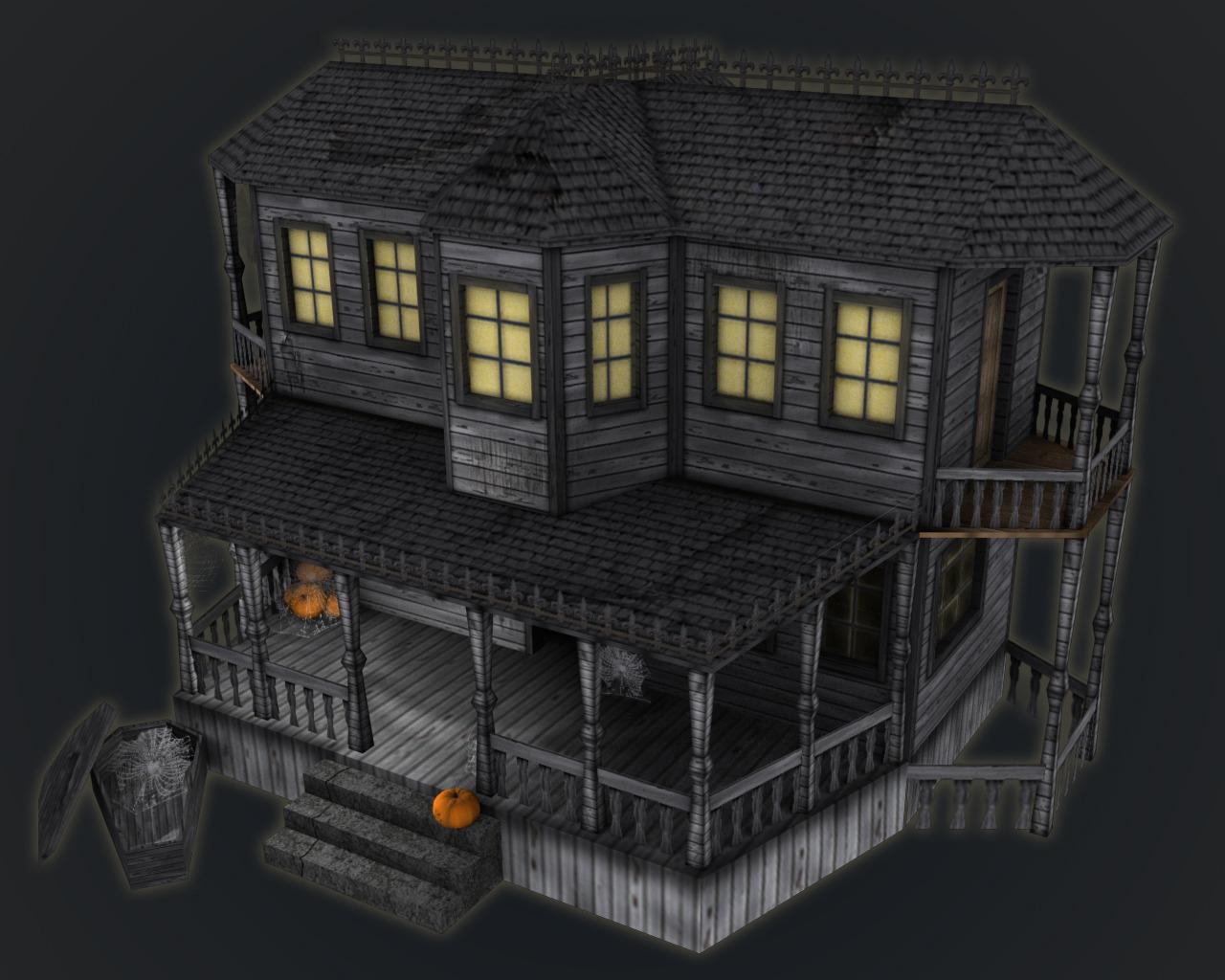 Haunted Halloween House By Adrian3dartist 3docean