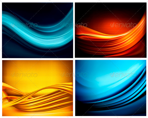 Set of Business Elegant Coloful Abstract Background - Backgrounds Business