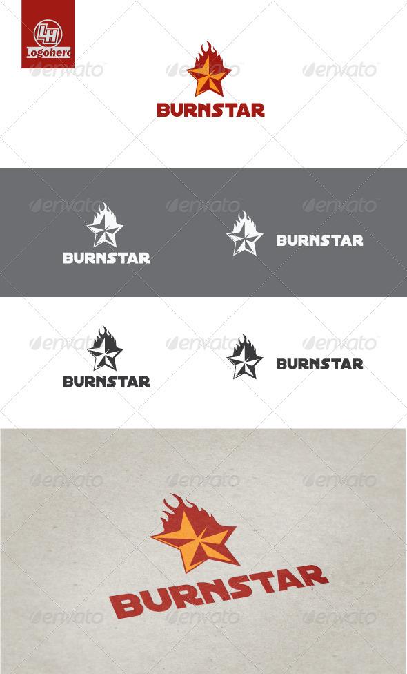Burn Star Logo Template - Symbols Logo Templates