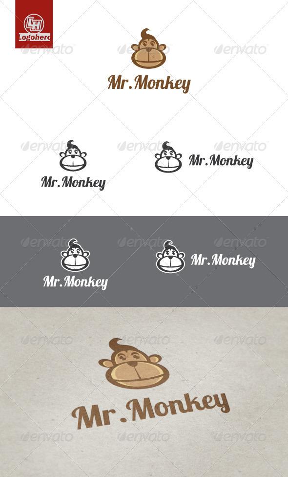 Mr. Monkey Logo Template - Animals Logo Templates