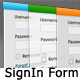 3 Colors SignIn & User Registration Form - GraphicRiver Item for Sale