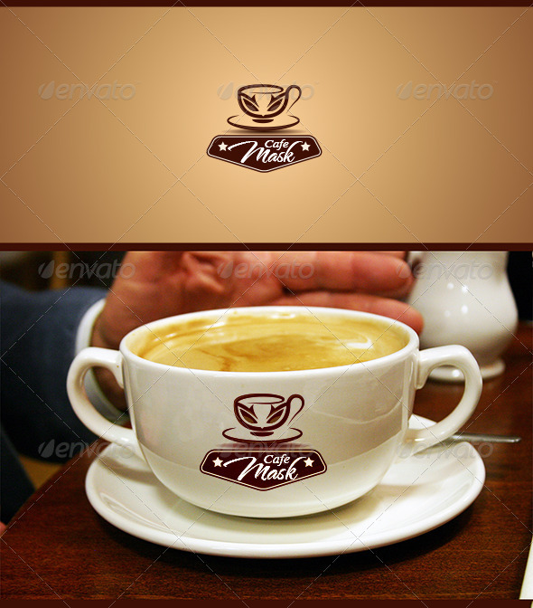 Mask Cafe - Food Logo Templates