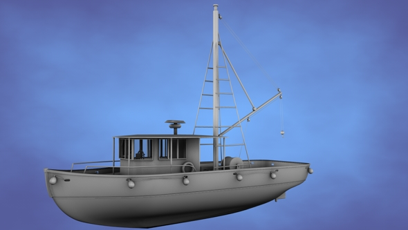 Fishing Trawler (Untextured) - 3DOcean Item for Sale