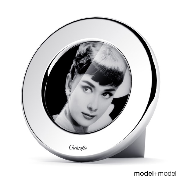 Christofle Fidelio round picture frame - 3DOcean Item for Sale