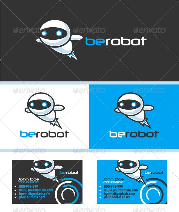 Modern Robot V.1 Logo Template - Humans Logo Templates
