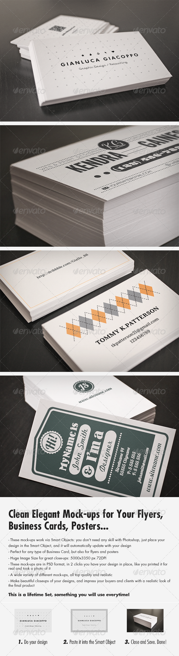 Flyer and Business Card Clean Realistic Mockups - Business Cards Print
