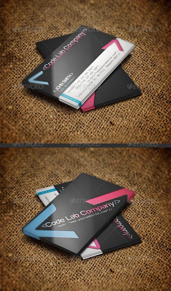 Web Developer Business Card by Reddes   GraphicRiver