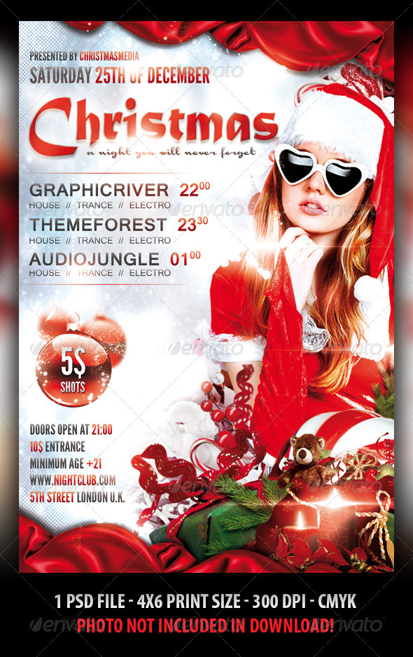 christmas party flyer template clubs parties events