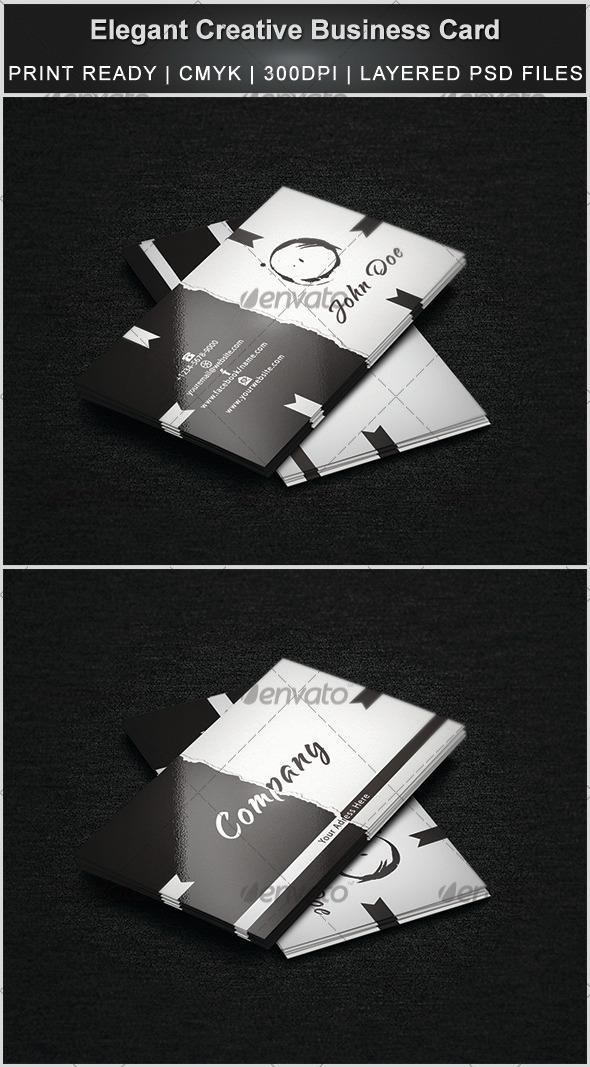 Elegant & Creative Business Card - Creative Business Cards