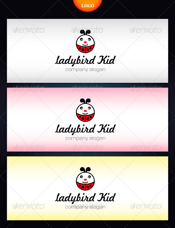 Ladybird Kid - Objects Logo Templates