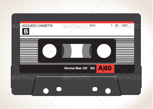 Detailed Vector Cassette Tape - Man-made Objects Objects