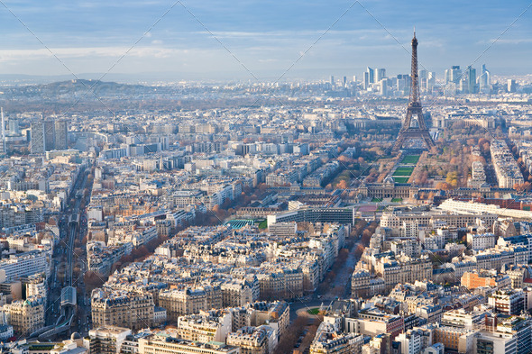 above view on Paris - Stock Photo - Images