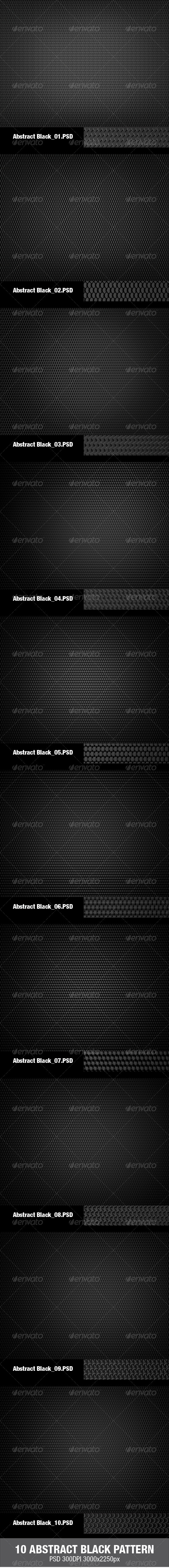10 Abstract Black Pattern - Abstract Backgrounds