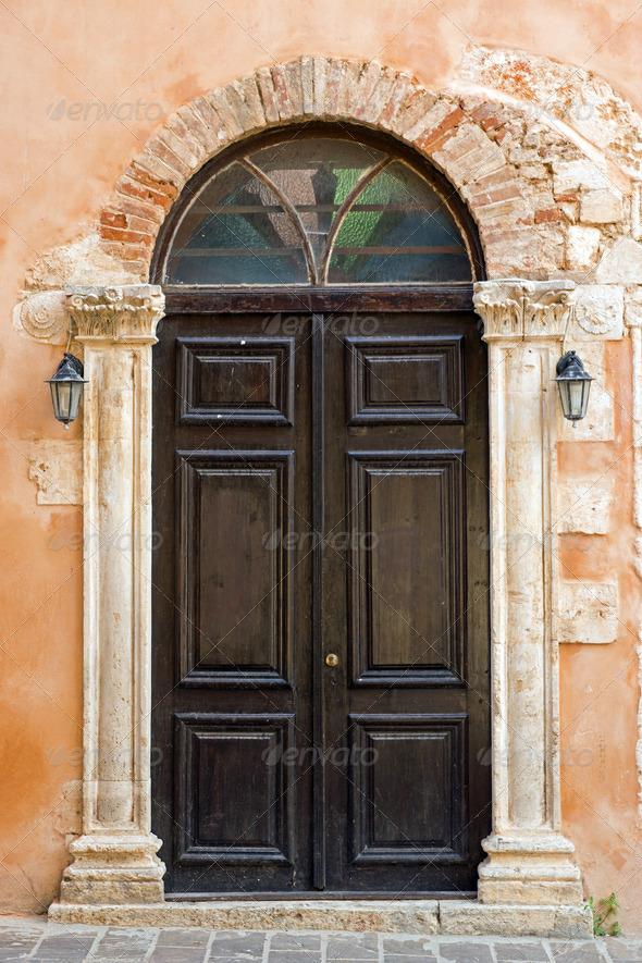 Church door in Chania - Stock Photo - Images