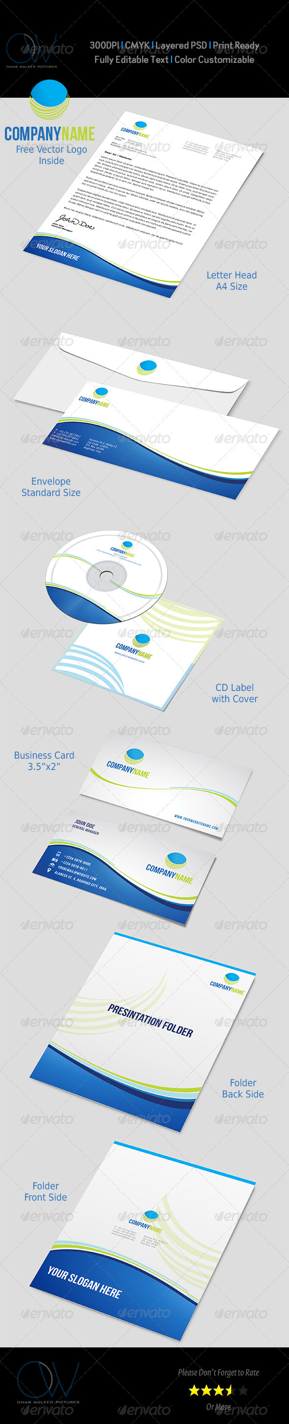 Corporate Pack Vol.2 - Stationery Print Templates