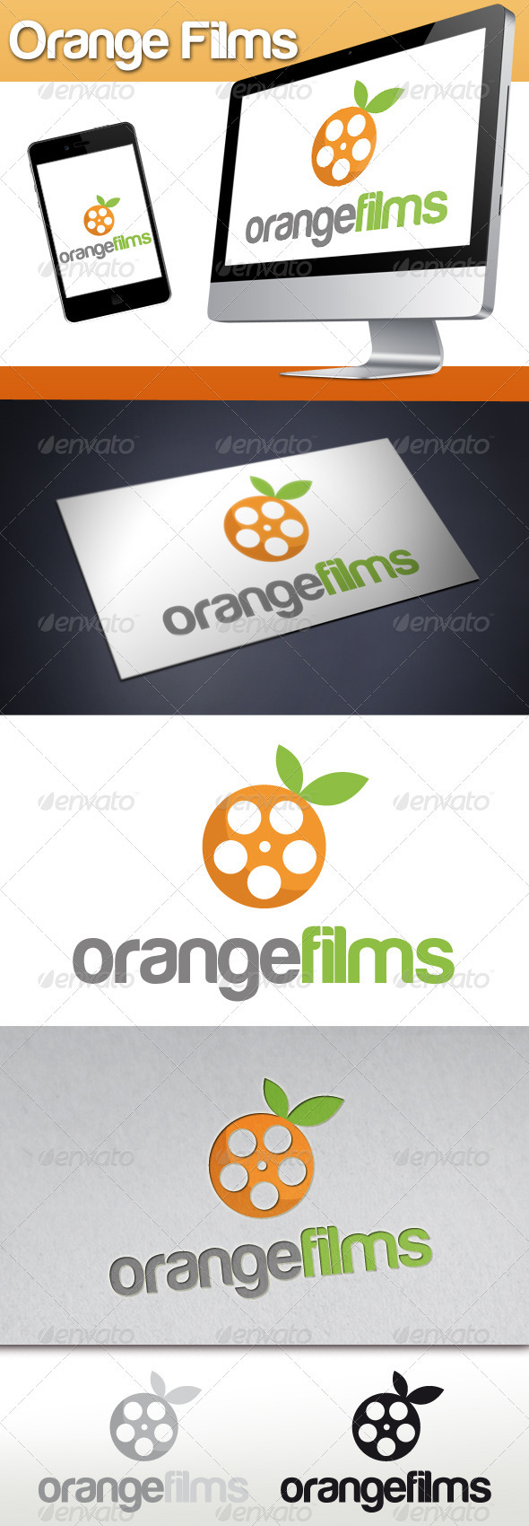 Orange Films Logo - Objects Logo Templates