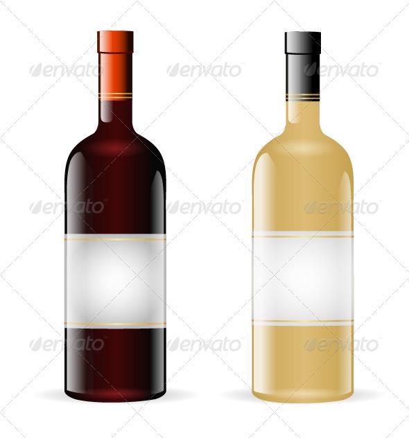 Wine Bottles - Food Objects
