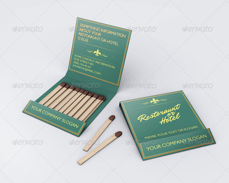 Matchbook mock up by kotulsky graphicriver 01matchbookg colourmoves