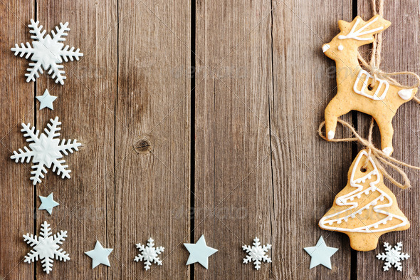 Christmas homemade gingerbread cookies - Stock Photo - Images