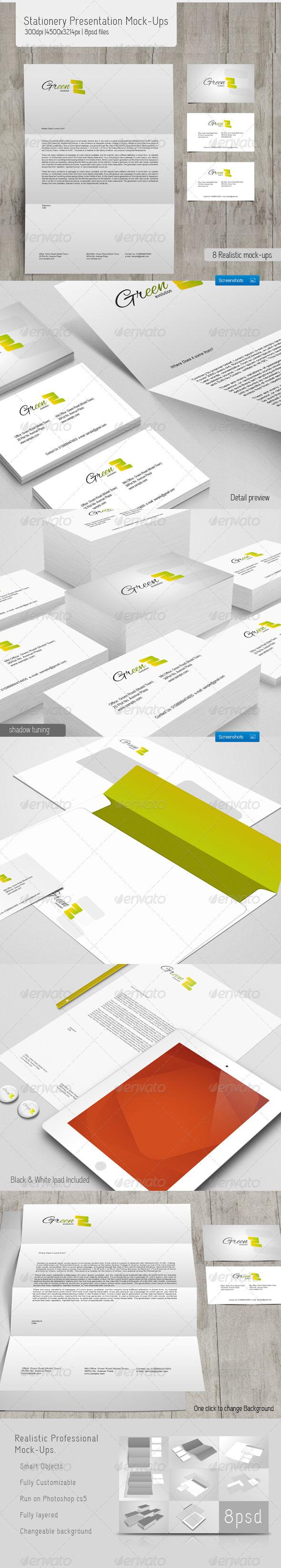 Stationery Presentation Mock-Ups - Stationery Print