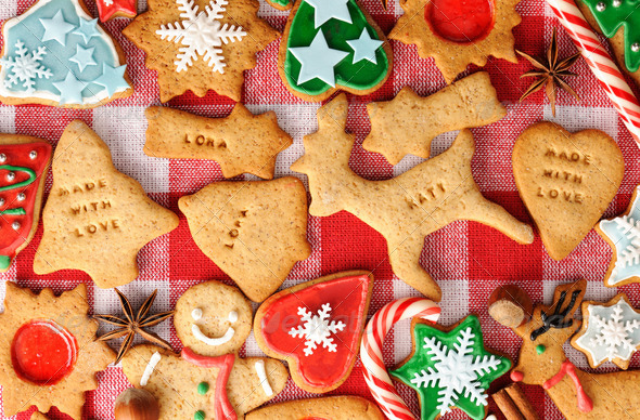 Christmas gingerbread cookies - Stock Photo - Images
