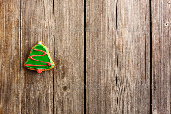 Christmas homemade gingerbread cookie - Stock Photo - Images