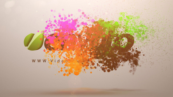 Colorful Particles Logo Animation by cryvfx | VideoHive