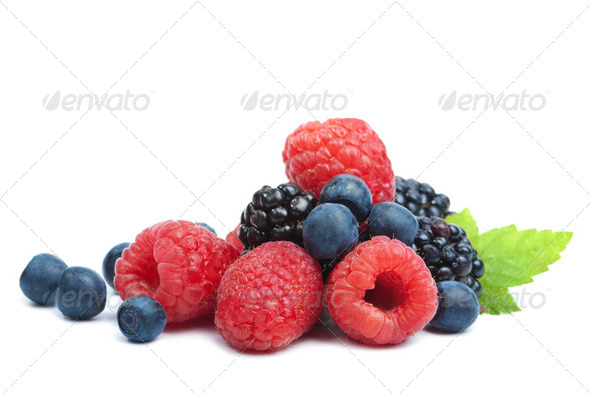 fresh berries isolated - Stock Photo - Images