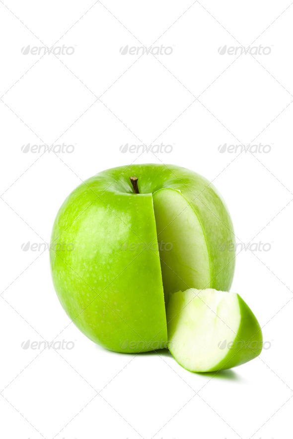 green apple isolated - Stock Photo - Images
