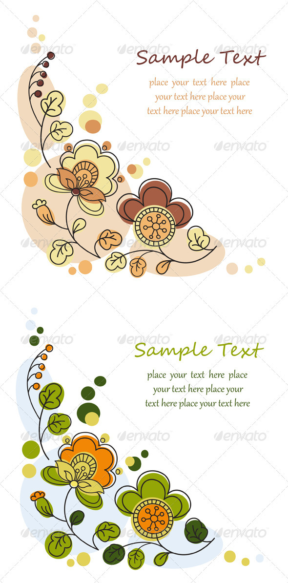 Floral Decorative Background Set - Backgrounds Decorative
