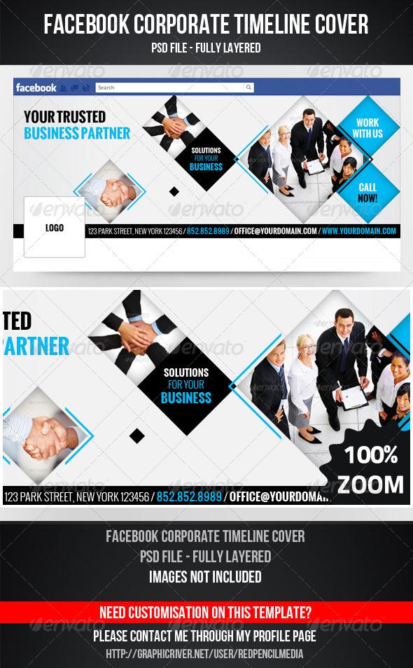 FB Corporate Timeline Cover - Facebook Timeline Covers Social Media