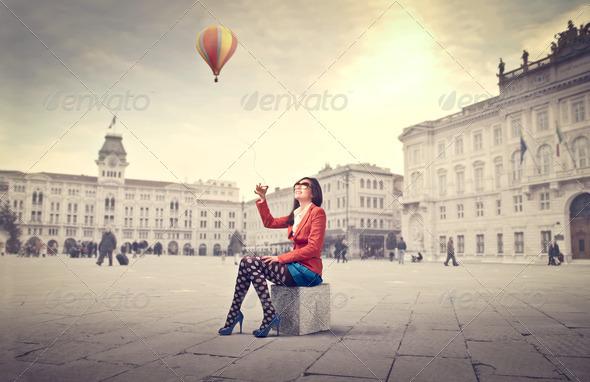 Hot-Air Ballon - Stock Photo - Images