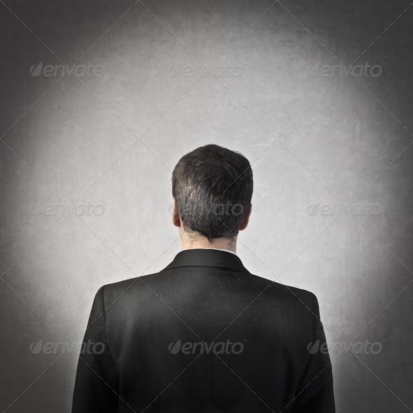 Businessman Back - Stock Photo - Images