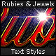 Rubies & Jewels - Text Styles - GraphicRiver Item for Sale