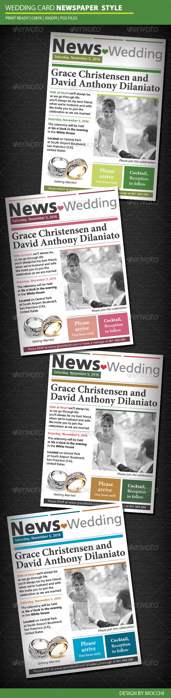 Wedding Card Newspaper Style - Weddings Cards & Invites