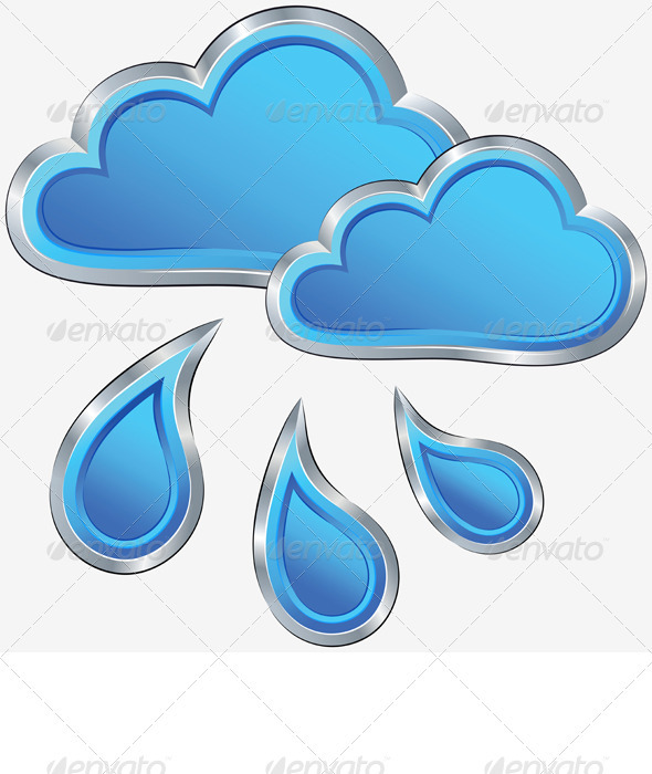 Vector Icon of Rainy Weather  - Seasons Nature