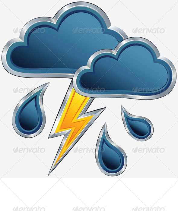 Vector Weather Icon with a Storm Weather - Seasons Nature