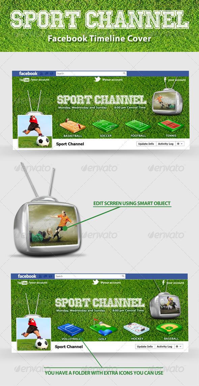 Sport Channel FB Timeline - Facebook Timeline Covers Social Media