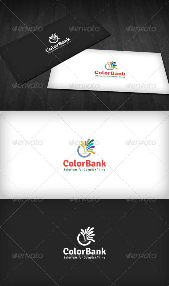 Color Bank Logo - Vector Abstract
