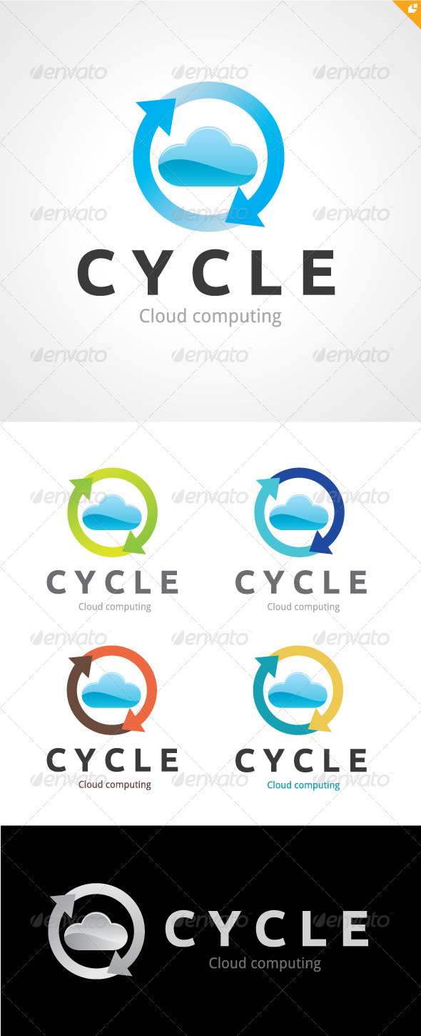 Cycle Cloud Computing Logo - Nature Logo Templates